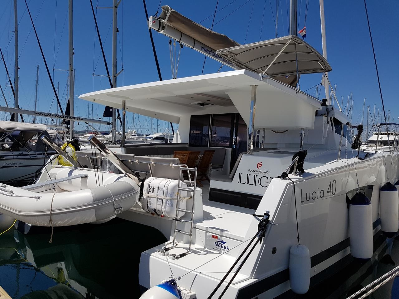 Fountaine Pajot Lucia 40, Luce, A/C - shore power only | Katamaran Charter Kroatien