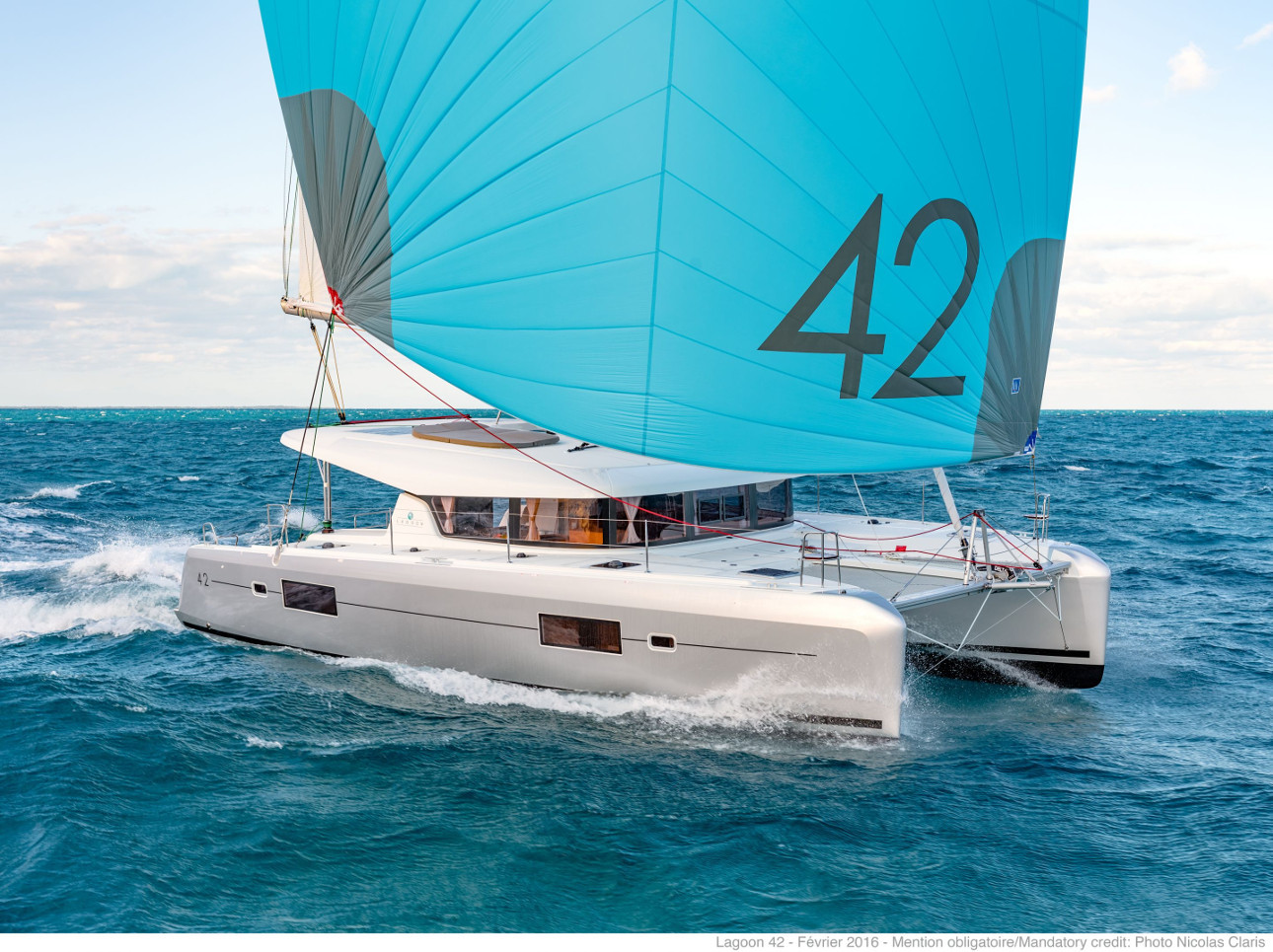 Lagoon 42, Fly With Me (AC 4 cabin version, generator, portable icemaker) | Catamaran Charter Croatia